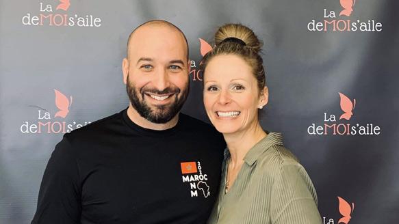 Marie-Eve D'Amours et Mathieu Roy